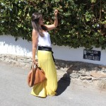Bolso y falda larga